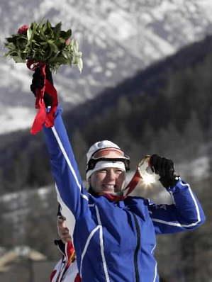 Olümpiavõitja Kristina Šmigun. Foto: AP - pics/2006/12485_1.jpg