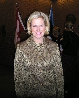 Jane Pitfield, Toronto councillor and the first declared opponent of David Miller in the next municipal mayoral tilt, was among the notable guests at the Estonian Independence Day Gala organized by EKN and the Estonian Honourary General Consulate at the Estonian House on February 24th.   Photo: Adu Raudkivi    - pics/2006/12656_1.jpg