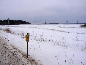 Kõrgepingeliinid lähevad Eestist üle Läti piiri. Kummas suunas hakkab elekter neid mööda tulevikus liikuma?  Foto: Üllas Linder - pics/2006/12767_1.jpg