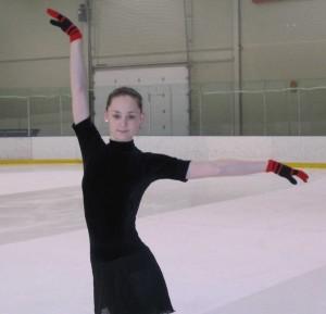 Iluuisutaja Jelena Muhhina treeningul. Foto: Helgi Leesment   - pics/2006/12903_1.jpg