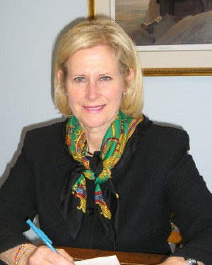 Toronto councillor and declared mayoral candidate Jane Pitfield in her City Hall office. Photo: Adu Raudkivi    - pics/2006/12907_1.jpg