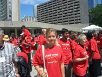 Eva-Liisa Luhamets Torontos, kus ta osales AIDSi konverentsil.     Foto: perekonnaarhiivist      - pics/2006/14154_13_t.jpg