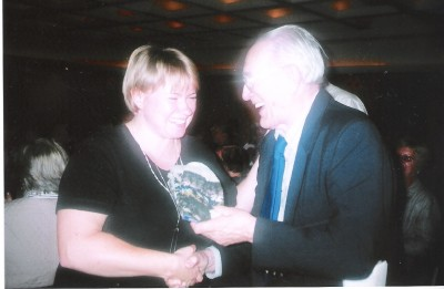 Heli Jürgenson ja dr Roman Toi. Kumb kummale hea nalja rääkis?  Foto: E. Purje - pics/2007/10/17751_1.jpg