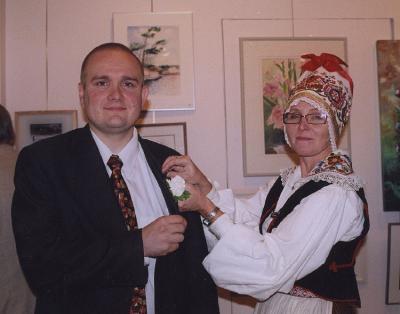 EKKT abipresident Elva Palo ja Ottawa Suursaatkonna asjur Rasmus Lumi. Foto: I. Lillevars - pics/2007/10/17779_2_t.jpg