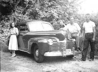 My father's 1941 Pontiac and from left Iri Karist (a family friend), my mother, father and I, sometime in 1951.   Photo: Plaks family archives - pics/2007/10/17875_2_t.jpg