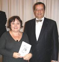 Imbi Paju koos president Ilvesega.  Foto: Mari-Ann Kelam - pics/2007/10/17956_1_t.jpg