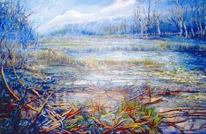 "Akrüül 36x24¹¹ ""Morning and Loone¹s Lake³. - pics/2007/11/18314_2_t.jpg"