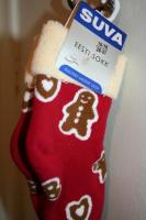 """Since Estonian Santas arrive in person on Christmas Eve, there's no need for stockings hung by the fireplace. This """"eesti sokk"""" is meant to warm the foot and claims """"Kvaliteet aastast 1919"""" – Quality since the year 1919, when the Suva sukavabrik (stocking factory) in Tallinn used to be called AS Rauaniit (""""Iron thread""""). - pics/2007/12/18371_1_t.jpg"""