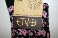 """The only thing to wear to the Viljandi Folk Music Festival are obviously etnosokid! Etno, the short form of etnograafia (ethnography – a branch of anthropology dealing with individual cultures), is used a lot in Estonian pop culture to describe things cultural and folksy. The term """"etnosocks"""" as written on the product here, seems to be an example of cultures and languages merging. And conforming to the rules of Estonian, which is no doubt refreshing! Photos: Riina Kindlam - pics/2007/12/18371_2_t.jpg"""