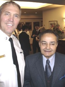 Toronto top cop Bill Blair and NEPMCC president Thomas Saras at a police press conference for the ethnic media on February 7th.  Photo: Adu Raudkivi - pics/2007/15394_1.jpg