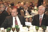 Suursaadik Jüri Luik  (vas.) ja senaator Richard Lugar.  Foto: Inga Lukaviciute/JBANC - pics/2007/15447_1_t.jpg