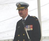 Chief of Canada's Naval Staff Vice-Admiral Drew Robertson addressed the ethnic media aboard the HMCS Halifax on April 28.  Photo: Adu Raudkivi - pics/2007/16223_2_t.jpg