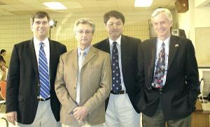 """Bloody harvest"" panel members Dr. Torsten Trey, Dr. Gerry Koffman, Erting Zhang and moderator the Hon. David Kilgour.    Photo: Adu Raudkivi - pics/2007/16439_1_t.jpg"