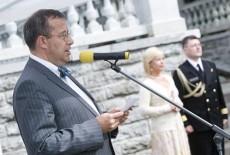President Toomas Hendrik Ilves Kadriorus tänuvastuvõtul kõnet pidamas - pics/2007/16488_1.jpg