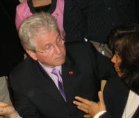 Minister Mike Colle being approached by a constituent in 2006 (for a grant?).  Photo: Adu Raudkivi - pics/2007/17101_3_t.jpg