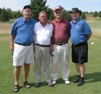Golfiturniiri korraldajad: vas. Jaan Schaer, Pertti Valikangas (Soome),George Rundans (Läti) ja Uno Jaason.  - pics/2007/17305_1_t.jpg