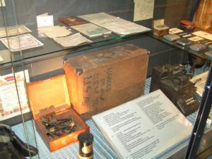 This example of DP handiwork is on display at the Museum of Occupations in Tallinn, a must-visit. The Toronto Estonian School Choir paid a visit this summer, and saw the author's father's suitcase as part of a larger exhibition of the luggage of those forced at the last moment to flee the Soviet occupation.    Photo: Arved Plaks - pics/2007/17517_1_t.jpg