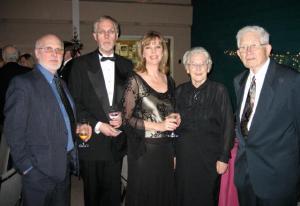 Greeting 2008 in Montréal. From the left: Dr. Enn Raudsepp, Valmar and Carole Kurol, Anta and Henn Paabo.    Photo: MES - pics/2008/01/18688_1_t.jpg