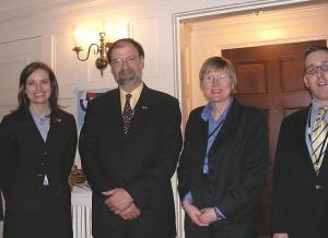 US Consul General John Nay and junior diplomats in Toronto on Super Tuesday.  Photo: Adu Raudkivi   - pics/2008/02/19045_1_t.jpg