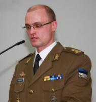 Kol-ltn Ilmar Tamm, kes hakkab alates 1. augustist juhtima Küberkaitsekeskust, pidamas peokõnet. Foto: Werner Siebert       - pics/2008/03/19246_2_t.jpg