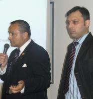 Tom Saras, President of NEPMCC and Neel Nanda, founder of HBBE.  Photo: Adu Raudkivi - pics/2008/06/20245_1_t.jpg