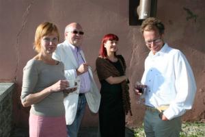 Helle Ehrberg, Peeter Ristsoo, Kadri Ristna ja Mati Rand. Peeter ja Mati on endised torontolased, nüüd juba ammused tallinlased. - pics/2008/07/20320_25_t.jpg