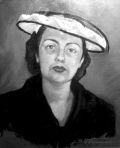 Benita Vommi autoportree, pastell.  Foto: perekonnaarhiivist - pics/2008/07/20471_1_t.jpg