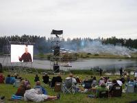 Kontserdipublik jälgimas Paavo Järvit ekraanil.  Foto: Viido Polikarpus - pics/2008/09/21003_2_t.jpg