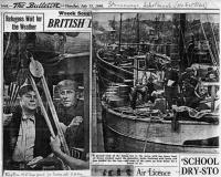 Vasakul oleval pildil kapten H. Vilu (par.) ja tema  abi E. Oder. Ajalehest The Bulletin, 15. juuli 1948     - pics/2008/09/21094_2_t.jpg