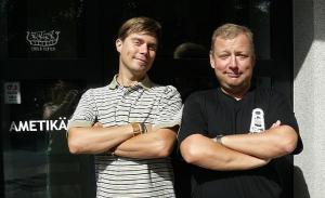 (Vas.) Meelis Sarv ja Peeter Kaljumäe tulevad  Pärnust Torontosse  Pärnumaalaste Seltsi 30. juubeli peole. Foto: erakogust - pics/2008/10/21166_1_t.jpg