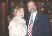 The Hon. Barbara McDougall and US Consul General in Toronto John Nay.     Photo: Adu Raudkivi. - pics/2008/11/21586_1_t.jpg