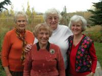 Left to right:  Wilma Pertel-Costello, Lillian Munz, Evelyn Erdman, Anita Linderman-Madill.   Missing from this photo is Donna Reinson-Koper who was in Estonia at the time, tracing the Estonian side of her roots right to the Järvamaa manor-house where her ancestors laboured before departing for Crimea in 1862.   - pics/2008/11/21843_2_t.jpg