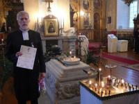 Eero Sepponen pärast autasustamist Püha Platoni haua juures Tallinna Issanda  Muutmise kirikus. - pics/2009/01/22596_1_t.jpg