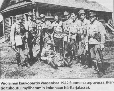 Eesti kaugluure üksus Vaasenis 1942 Soome vormis. (Üksus hävis hiljem täielikult Ida-Karjalas). - pics/2009/02/22975_4_t.jpg