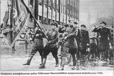 Eesti Korpuse saabumine Tallinna Nõukogude Liidu vormis maikuus 1945  - pics/2009/02/22975_6_t.jpg
