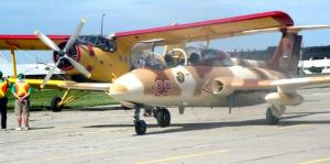 The Russian-built Antonov AN-2 (background) is like its makers large and noisy, and a rarity in today's high tech aviation as a single engined biplane in regular use. The AN-2 is represented in Estonia's small air force. The smaller aircraft in the front of the picture is a Czech Aero L-29 Delfin trainer.  Photo: Adu Raudkivi   - pics/2009/06/24210_2_t.jpg