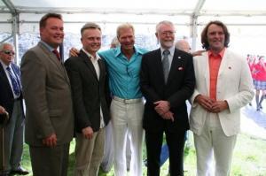 Peter Roose, Imre Sooäär, dr. Allan Oolo, suursaadik Scott Heatherington ja Rein Tafenau. - pics/2009/07/24311_44_t.jpg