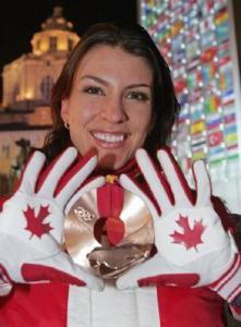 Mellisa Hollingsworth Torinos olümpia pronksmedaliga.  Foto: internetist - pics/2010/01/27036_1_t.jpg