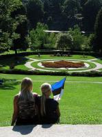 Hetk Torontos asuvas High Park'is, tagaplaanil lilledest vahtraleht. Foto:  Ene Timmusk   - pics/2010/03/27429_2_t.jpg