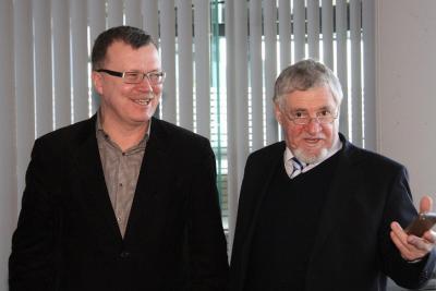 Jaan Elken koos art Karlsruhe asutaja ja kuraatori Ewald Karl Schradega. Foto: Werner Siebert - pics/2010/03/27547_1_t.jpg