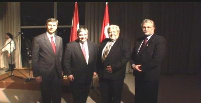 Magers Krams - LV Ambassador in Canada, Peter Van Loan -  The Honourable , federal Minister of International Trade, Laas Leivat - Hon. EV Consul in Canada, Imants Purvs - Hon. LV Consul in Canada  - pics/2010/04/27929_2_t.jpg