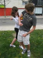 """Käimas on tants """"Mango tango"""". Pildil on Teija Jõgi ja Kristjan Naelapea.  Foto: K. Mirka - pics/2010/05/28103_3_t.jpg"""