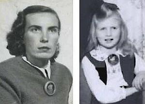 Fotodel kaunid puust sõled - Saksamaal põgenike- laagris valmistatud ja Rootsi sugulastele saadetud. Sõlgede kandjad Aliide Kiviloo ja tütar Ellen Kiviloo (Leivat), sõlgede tegija Elleni onu Roman Saaristo, kes hiljem elas ja sai tuntud puukunstnikuks Chicago äärelinnas Woodstock'is. - pics/2010/10/29794_1_t.jpg