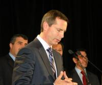 Premier Dalton McGuinty and cabinet members at recent Liberal party Christmas gathering in Toronto.   Photo: Adu Raudkivi.  - pics/2010/12/30756_1_t.jpg