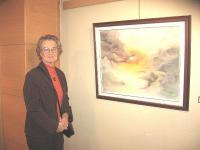 Kunstnik Valve Jaamul oma lemmikmaaliga. Foto: E. Oja  - pics/2011/01/31096_3_t.jpg