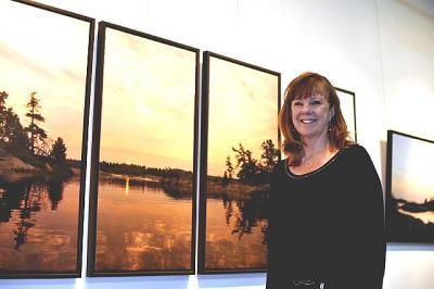 Ingrid Saaliste at her latest exhibition in Toronto.  Photo: Gerardo.  - pics/2011/01/31098_1_t.jpg