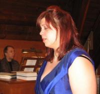 Kristina Agur ja Aaro Tetsmann Peetri kiriku kontsert-jumalateenistusel musitseerimas. Foto: Eerik Purje.  - pics/2011/02/31253_3_t.jpg