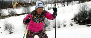 Karin Laine üheks meelistegevuseks on suusatamine. Lisaks harrastab ta ka orienteerumist ja kergejõustikku.  foto: Lauri Kulpsoo  - pics/2011/03/31777_1_t.jpg