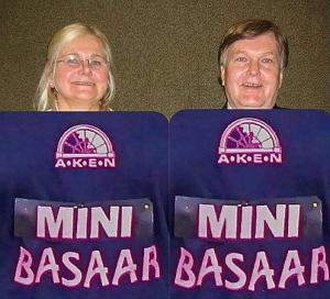 Pictured are Anne Meema and Aivo Veel, one of the many wife-husband teams whose hard work, spirit and enthusiasm over a twenty-year period contributed to the success of MINIBASAAR's predecessor - the now legendary HIIGELBASAAR. Anne and Aivo will be at their usual posts at this year's more streamlined rummage sale on May 14th and though they will be wearing the familiar recycled shirts that say MINI instead of HIIGEL, there is certainly nothing mini about the contribution this wife-husband team has made to AKEN fundraising events over the years.  Foto Maaja Matsoo  - pics/2011/04/32127_1_t.jpg