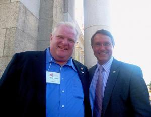 Toronto Mayor Rob Ford and Ted Opitz, MP, Etobicoke Centre. Photo: Adu Raudkivi   - pics/2011/08/33285_2_t.jpg